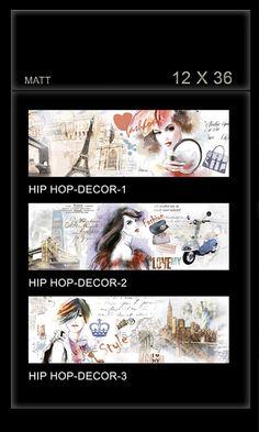 Hip Hop Decor - Millennium Tiles 300x900mm (12x36) Digital Ceramic OCT Matt Wall Tiles   - Hip Hop Decor 1 - Hip Hop Decor 2  - Hip Hop Decor 3