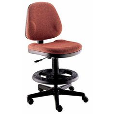 Office Master BC47 Charcoal Fabric Wide Body Drafting Bar Counter Stools Chairs