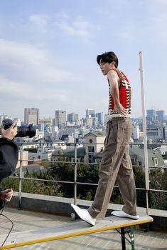 Cho Seungyeon for Dazed Korea Rapper, White Image, Aesthetic Pictures, Harem Pants, Capri Pants, Black And White, Boys, Casual, Kpop