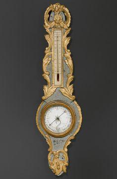 BAROMETER/THERMOMETER, Louis XV, das Zifferblatt unleserlich