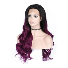 Hair Extensions & Wigs 2019 Fashion Vnice Dark Roots Ombre Wine Red Burgundy Straight Glueless Synthetic Front Lace Wig African American Women Heat Resistant Wig Delicious In Taste