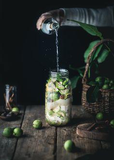 Nocino - A Recipe for Italian Walnut Liqueur | Adventures in Cooking Mason Jar Lamp, International Recipes, Food Design, Italian Recipes, Adventure, Cooking, Preserves, Liqueurs, Delicious Recipes
