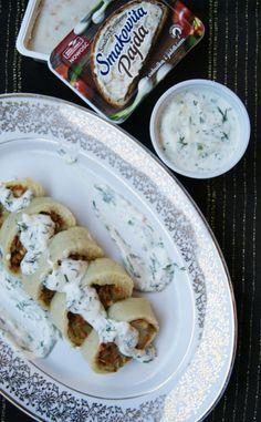 Rolada z ziemniaków nadziewana warzywami i boczniakami duszonymi ze Smakowita Pajdą