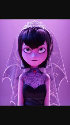 Absolutely love this spiderweb wedding veil worn by Mavis in Hotel Transylvania 2!