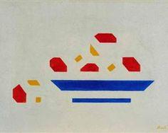 Still life (Bowl with apples) - Bart van der Leck