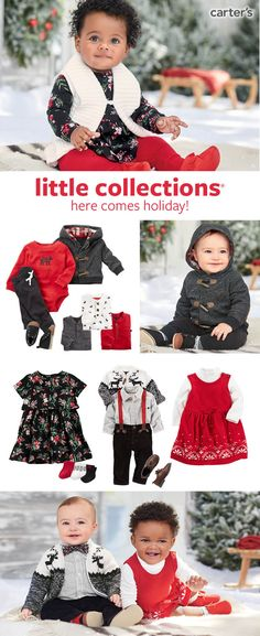 Shop easy outfit sets and cute style for baby's first holidays and winter.