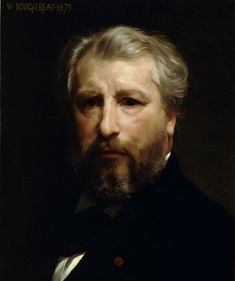 William-Adolphe Bouguereau (November 30, 1825 – August 19, 1905) was a French academic painter. William Bouguereau (French pronunciation: [vijɑ̃ buɡəʁo]) was a traditionalist whose realistic genre paintings and mythological themes were modern interpretations of Classical subjects with a heavy emphasis on the female human body.