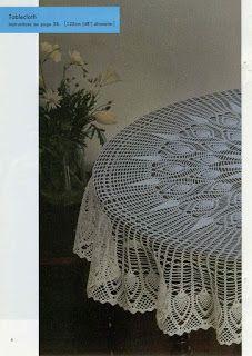 Marisabel crochet: Que lindo mantel Crochet Tablecloth Pattern, Free Crochet Doily Patterns, Crochet Bedspread, Crochet Art, Crochet Diagram, Crochet Round, Thread Crochet, Crochet Motif, Crochet Doilies