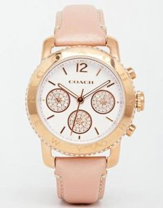 coach  legacy  uhr in rosa  rosa #watch #jewelry #accessories #covetme