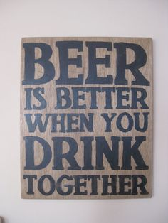 Beer sign  by WoodenShabbyShack on Etsy, $55.00