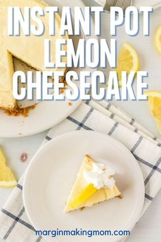 Have you tried making cheesecake in your Instant Pot yet? It's one of my favorite ways to use a pressure cooker! This lemon cheesecake is a cool and creamy treat--perfect for a spring or summer party! Using A Pressure Cooker, Instant Pot Pressure Cooker, Pressure Cooker Recipes, How To Make Cheesecake, Lemon Cheesecake, Blueberry Compote, Lemon Dessert Recipes, Refreshing Desserts, Strawberry Sauce