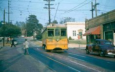 From Metro Librarian - Los Angeles Transit Lines W Car at Monte Vista Avenue. 1954