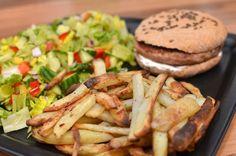 Kalkunburger i hjemmelaget hamburgerbrød (Bakekona)