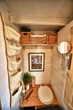"""House bathroom- love the """"elegance"""" even with a composting toilet!Tack House bathroom- love the """"elegance"""" even with a composting toilet! Outhouse Bathroom, Tiny House Bathroom, Small Bathroom, Bathroom Storage, Bathroom Ideas, Toilet Storage, Bathroom Sinks, Tiny House Movement, Lavabo Exterior"""