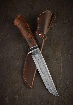 fine survival knife, damascus blade
