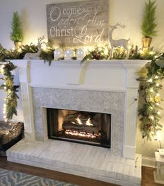How to Add Herringbone Marble Tile to a Fireplace - Southern Hospitality - fireplace decoration,fireplace decor ideas,fireplace decorations Herringbone Fireplace, Wooden Fireplace, Brick Fireplace Makeover, Farmhouse Fireplace, Marble Fireplaces, Fireplace Remodel, Fireplace Design, Fireplace Mantels, Mantles