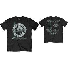 Burnout T-Shirt Blue NEW /& OFFICIAL! Guns N/' Roses /'Faded Skull/'