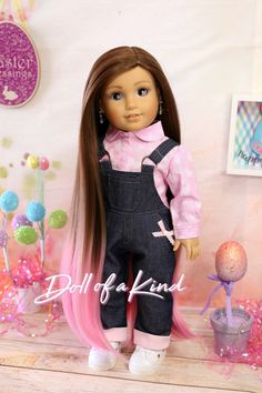 American Girl Doll wig Chocolate Honey  Fits 18/'/' dolls My life Our Generation