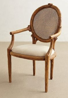anthro, cane back chair