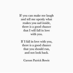 This is utterly amazing.  A man you will admit his fears,  show me his demons and let me heal his sadness is the man I need.  Go follow @carson.patrick.bowie !!! #writercrushwednesday