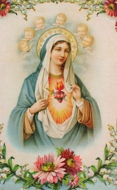 Blessed Mother Mary, Blessed Virgin Mary, Mary Of Guadalupe, St Maria, Mama Mary, Holy Mary, Faith Prayer, Angels And Demons, Religious Art