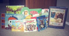 unwrapping 25 Christmas/winter storybooks, one each day until Christmas