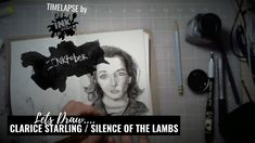 Lets Draw Clarice Starling from Silence of the Lambs - Bad Ass Ladies of Horror - Inktober timelapse Alone Movies, Clarice Starling, Lambs, Inktober, Horror, Draw, Let It Be, Sketches, Tekenen