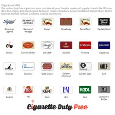 Available various types of Cigarettes USA brands at http://www.cigarettedutyfree.com/english/cigarettes-usa.html.
