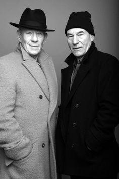 Sir Ian McKellen & Sir Patrick Stewart. Amazing actors and best friends. I love these guys <3