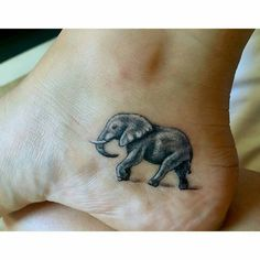 "339 Likes, 9 Comments - Elephant Gifts (@elephant.gifts) on Instagram: ""Gorgeous tattoo I love it. .!! Credit : @itsgabsdatno - Say hello to my little matriarch .…"""
