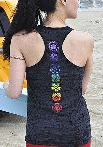 pretty graphic chakra design--spine tattoo?