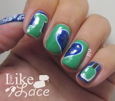 NailsLikeLace: I Heart Polish Nails - Stamping Plate QA86 Review