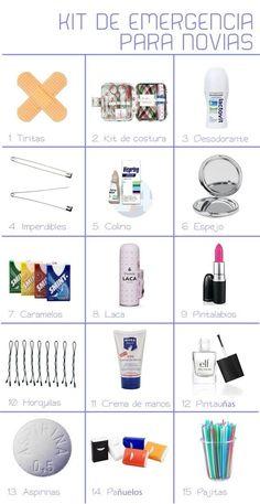 emergency kit for brides! emergency kit for brides! Red Wedding, Wedding Tips, Perfect Wedding, Wedding Planning, Wedding Day, Wedding Themes, Wedding Events, Weddings, Baby Shower Deco