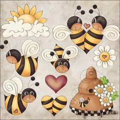 Bee Boppin' 1 Clip Art Set - Click Image to Close