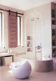 54 trendy bathroom window coverings dream homes Bathroom Windows In Shower, Bathroom Window Coverings, Window In Shower, Shower Bathroom, Interior Window Shutters, Interior Barn Doors, Indoor Shutters, Bedroom Windows, Concrete Bathroom