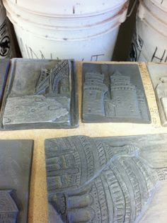 the pARTicular art teacher: Architecture Tiles – Educational Architecture Clay Art Projects, Ceramics Projects, Pottery Sculpture, Pottery Art, Pottery Ideas, Art Installation, Education Architecture, Architecture Artists, High School Ceramics