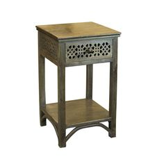 Warm Mango Weathered Accent Table