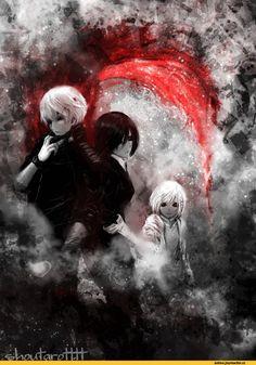 Kaneki, Touka & Hinami | Tokyo Ghoul