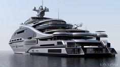 "Gigayacht Konzept ""Prelude"" (Laraki Yacht Design) My Goodness how Horrible! - Gigayacht Konzept ""Prelude"" (Laraki Yacht Design) My Goodness how Horrible!looks like concrete - Yacht Luxury, Luxury Cars, Luxury Vinyl, Luxury Vehicle, Luxury Houses, Luxury Apartments, Luxury Travel, Private Yacht, Private Jet"