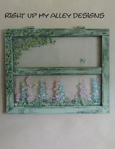 Newest Photo Farmhouse Windows painting Popular The current Farmhouse look is just a major trend in design right now, which finds its roots in from Old Windows Painted, Vintage Windows, Antique Windows, Old Window Projects, Window Ideas, Old Window Crafts, Wooden Projects, Annie Sloan, Window Pane Art