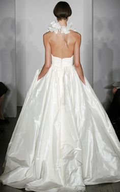 I just love the idea of pockets on a bridal gown!