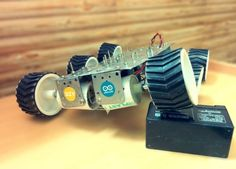 Build an all terrain 6WD vehicle using #Arduino Mega http://www.instructables.com/id/Six-wheeled-All-Terrain-Vehicle-6WD/