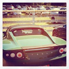 I forgot that I saw this Tesla... Tesla Roadster, Car, Vehicles, Automobile, Autos, Cars, Vehicle, Tools