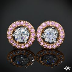 Rose Gold Diamond Earring Jackets pink diamonds! Add some flair to your diamond studs with these beautiful Diamond Earring Jackets.