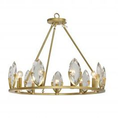 Product Code: LUP84180-9 Dimension:76x 76cm Height 58cm  Rods: 150cm Power & Light Source:E14 9 x 25W(max) Material: Brass,Crystal Color:Brass The Sky City Brass Crystal Chandelier is perfect for those who want to add an elegant touch to their space. The high-quality brass will age and change colour over time, creating a truly custom colour. The marquise shaped crystals brings a sense of luxury and refract the light beautifully and are best suited with a 4000K colour temperature globe to ...