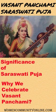 Vasant Panchami is the festival to worship the Goddess Saraswati. Goddess Saraswati is the Goddess of Knowledge and Art. This day is very auspicious, especially for students. On this day, students worship the Idol of Goddess Saraswati. There is a custom to wear yellow clothes on this special day. #vasantpanchami #saraswati #saraswatipuja #basantpanchami #puja #knowledge #art #goddess #happybasantpanchami #masarswati #sarswatipuja #goddesssarswati #basant #indianfestival #goddesssaraswati Saraswati Goddess, Yellow Clothes, Online Blog, Indian Festivals, Worship, Idol, Students, Knowledge, Parenting