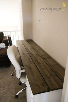Barn board stain desk.