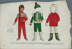 "Vintage 1969 Betsy McCall ""Cozy Winter Wardrobe"" Paper Doll"