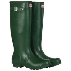 Hunter Wellies Grands Originaux En Vert - Vert bWap1NTh