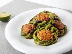 豇豆釀肉 Bean String Stuffed with Minced Pork #DDCrecipe